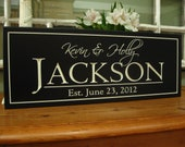 CARVED WOOD personalized family signs - Bridal Shower Gift - Family Name Sign  - Carved Personalized last Name Sign - Wedding Gift