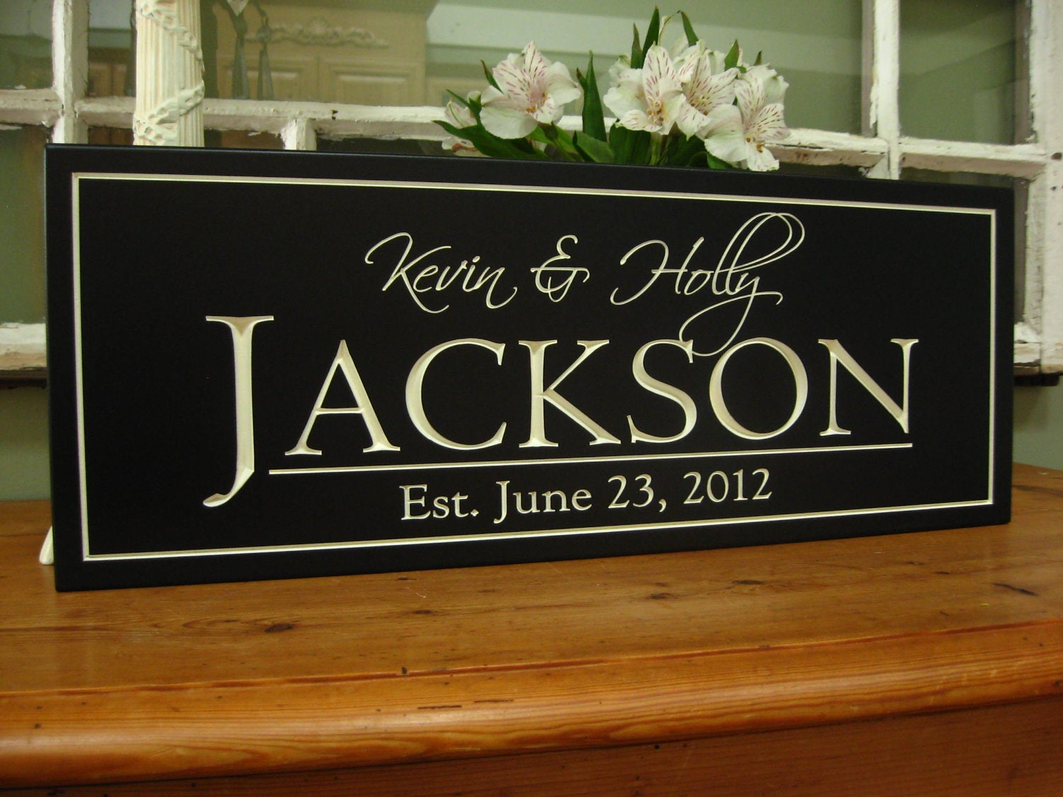 Wedding Gift Ideas For Close Friends: Personalized Family Sign Bridal Shower Gift Family Name