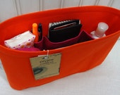 """Purse ORGANIZER Insert Shaper / Color of your choice / Sturdy / 9.5"""" x 2.5"""" x 7""""H / New Slim Style / fits the Hermes Evelyne PM"""