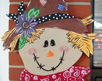 Fall Scarecrow Door Hanger
