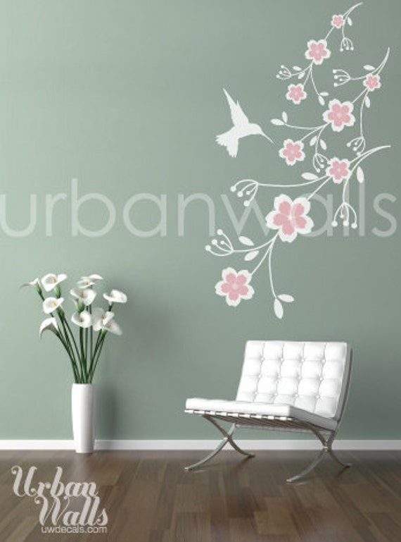Vinyl Wall Sticker Decal Art - Humming bird