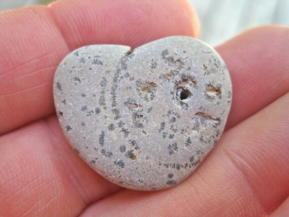 Natural Stone Heart with hole - Heart Shaped Rock Unique - Hole in my Heart