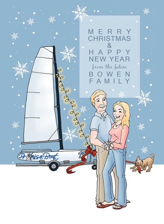 3-4 Person CUSTOM FAMILY PORTRAIT, Great Gift Idea, 8.5x11 Custom illustrated Print, 3-4 People/Animals