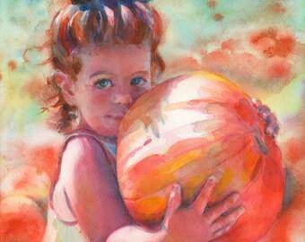 "11 x 14"" or 12 x 12"" Custom Portrait in Watercolor"