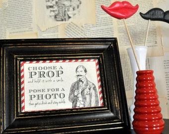 DIY Printable Sign - Photo Booth Poem