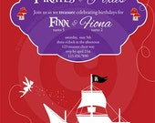 P.I.Y. (print-it-yourself) 5x7 Invitation - Pirate and Pixie Collection