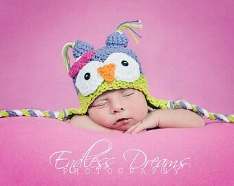 Baby Owl Hat / Newborn Owl Hat/ Owl Photo Prop /  Owl baby Shower Gift
