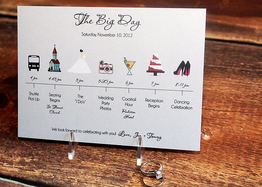 Wedding Timeline Invitations: Unavailable Listing On Etsy