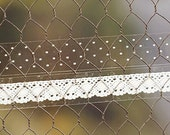 2 Set - Polka Dot & Lace Glass Tapes - Snow (0.6in)
