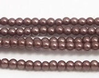 3mm Brown Glass Pearls Grade AAA 3mm brown glass pearls