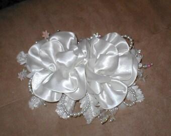 Ivory Satin Bridal Headpiece