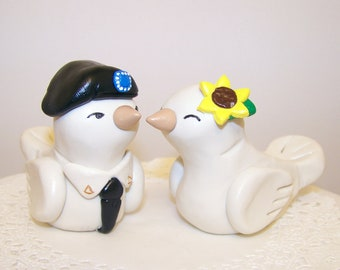 Army Wedding Cake Topper Custom Wedding Decoration - Choice of Colors