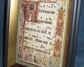 Book of Hours Decoupage on Glass Framing --- BoxBoy's Christmas in July