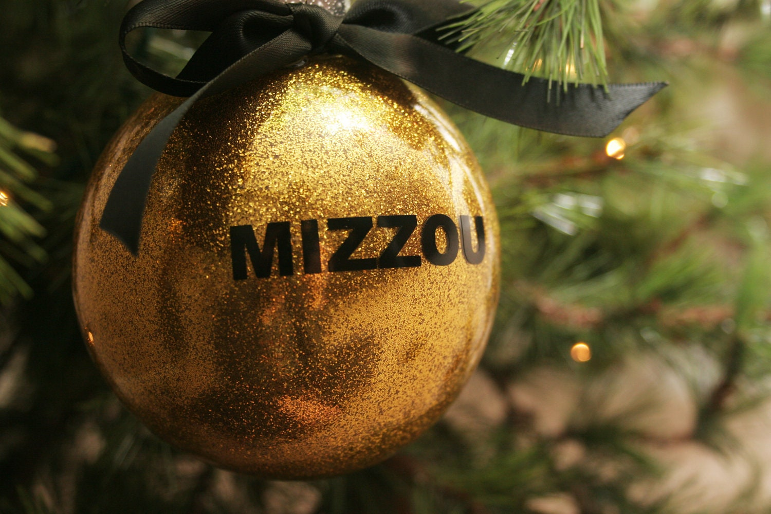 black or gold mizzou sec christmas ornaments by lsembroidery. Black Bedroom Furniture Sets. Home Design Ideas