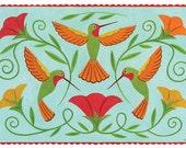 Trio of Hummingbirds Card