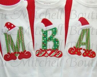 Santa Elf individual letter