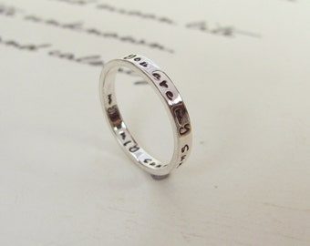 Message Ring, Customised Ring, Personalised Ring, Best Friend Ring,  Silver Ring