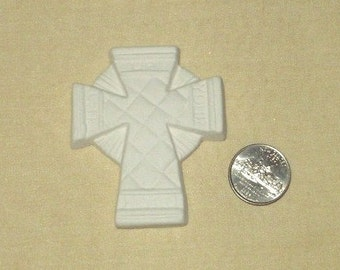 LIFT up YOUR HEART   3 inch cross   ceramic bisque   4 u 2 paint