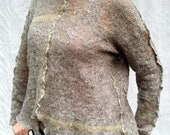 Oats and Mustard - Art to Wear Handknit Pullover Sweater