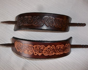 Extra Large Leather Hair Sticks