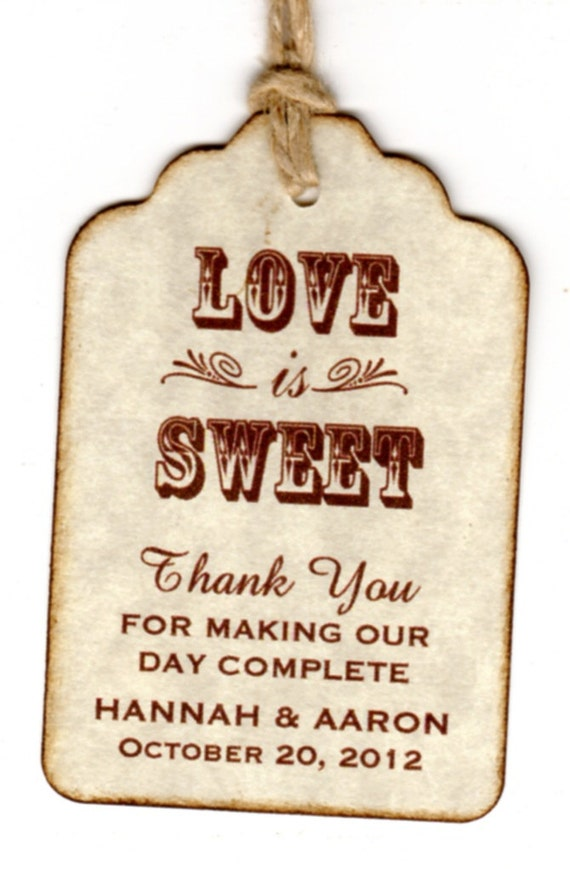 Wedding Favor Honey Tags : Wedding Favor Gift Tags / Place Cards / Escort Tags / Thank You Tags ...