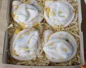 Diaper Cupcake Set in Neutral Yellow