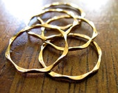 """Thin Gold Rings // """"I'm Hammered Gold Stacking Rings"""" // Set of Three, Set of Five or Single Wavy Gold Filled Unique Handmade Stack Rings"""