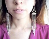 Tribal Triangle Spike Earring