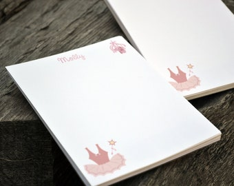 Personalized Notepads / Ballerina Notepads / Notebook / Personalized Ballet Note Pads/ Set of Notepads /  Set of 2 Ballerina Design