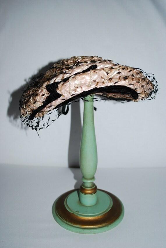 """Vintage 1950's """"Patrice"""" Straw Summer Hat"""