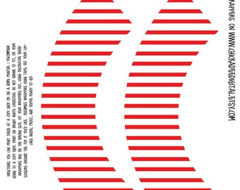 Immediate Download--Red and White Stripes...designed for use with decorative edged scissors...4th of July