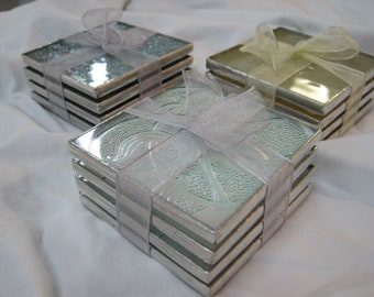 Iridescent Stained Glass Coasters