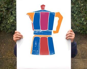 "Italian Mocha poster print 20""x27"" - archival fine art giclée print"