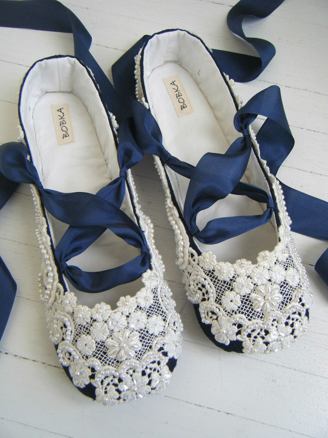 something blue wedding shoes bridal ballet flats by bobkababy