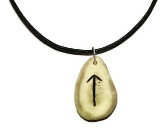 Tiwaz Bone Rune Necklace