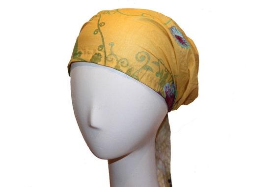 Fashion Head Scarf - Fashion Headscarf Wrap with Adjustable Tie
