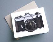 Vintage Camera Notecard - Photographer's Pentax SLR Fim Camera Card