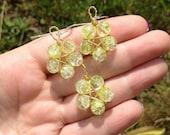 Reiki Infused Pentacle Pendant and Earrings Set