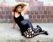 SALE 90s Black leather Skirt 10 Medium