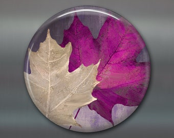 fall kitchen decor - autumn leaves decorations for the kitchen - housewarming gifts for the kitchen -  refrigerator magnet - MA-300