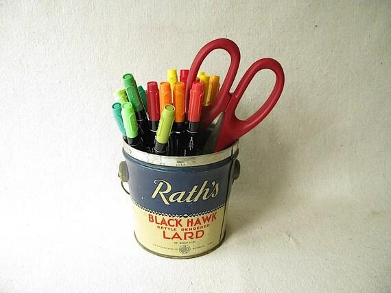Vintage Lard Tin Can