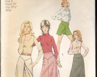 Vintage Simplicity 5311 skirt and shorts sewing pattern