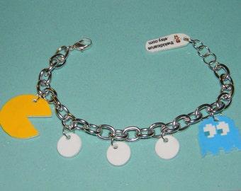Pac-Man & Ghost Charm Bracelet