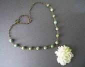 Glossy Peony Flower Necklace