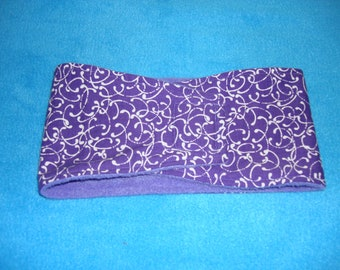 Purple and White Scroll - Male Dog Diaper - Male Dog Belly Band - Available in all Sizes