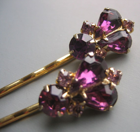 Perfectly Purple Bobby Pins