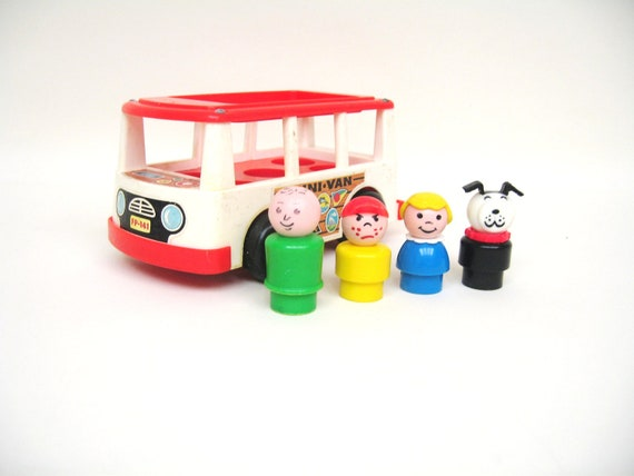RESERVED Fisher Price Minibus and Passengers