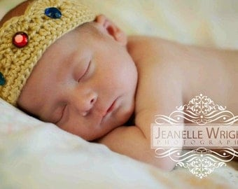 Newborn His Majesty Crown crochet pattern