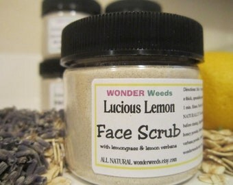 Luscious LEMON, All NATURAL Face Scrub, with Lemongrass and Lemon Verbana