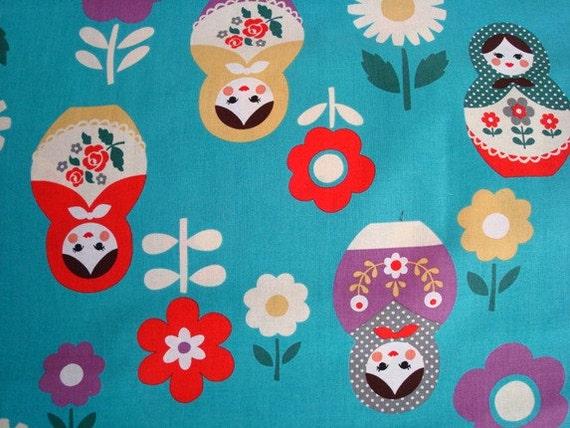 Matryoshka Fabric - Kokka Trefle - 1 Yard